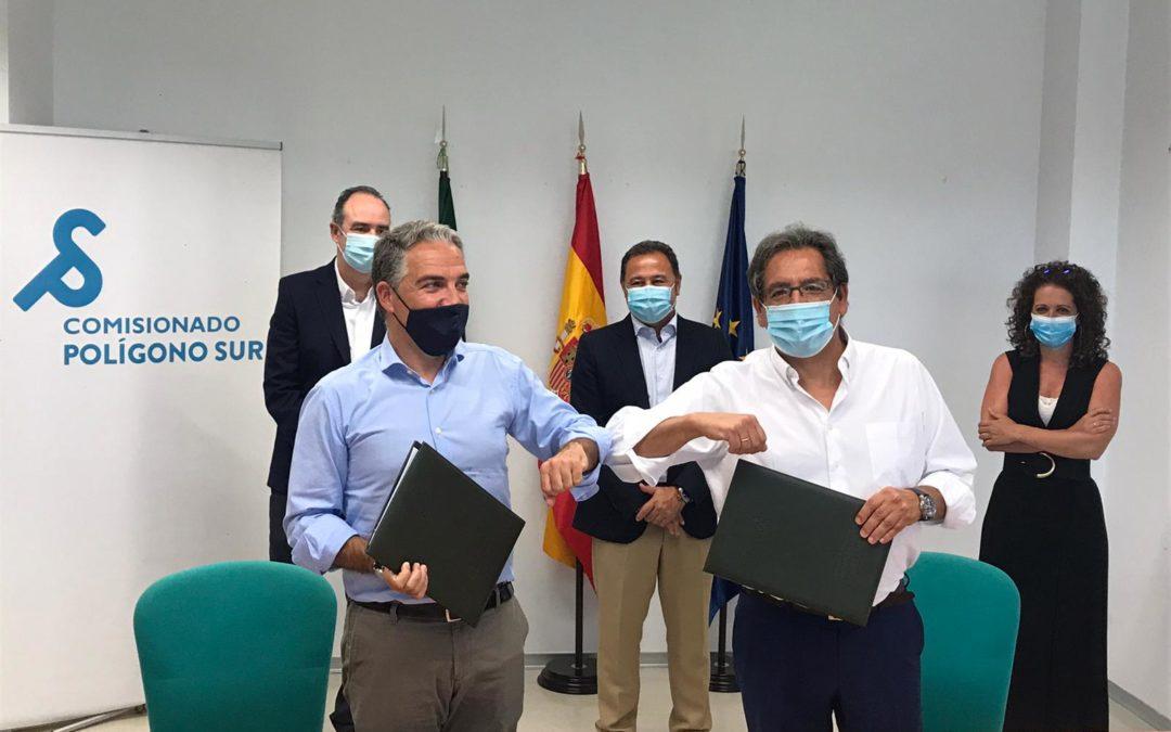 Fundación Cajasol y Junta de Andalucía entregan mascarillas para las Escuelas de Verano del Polígono Sur