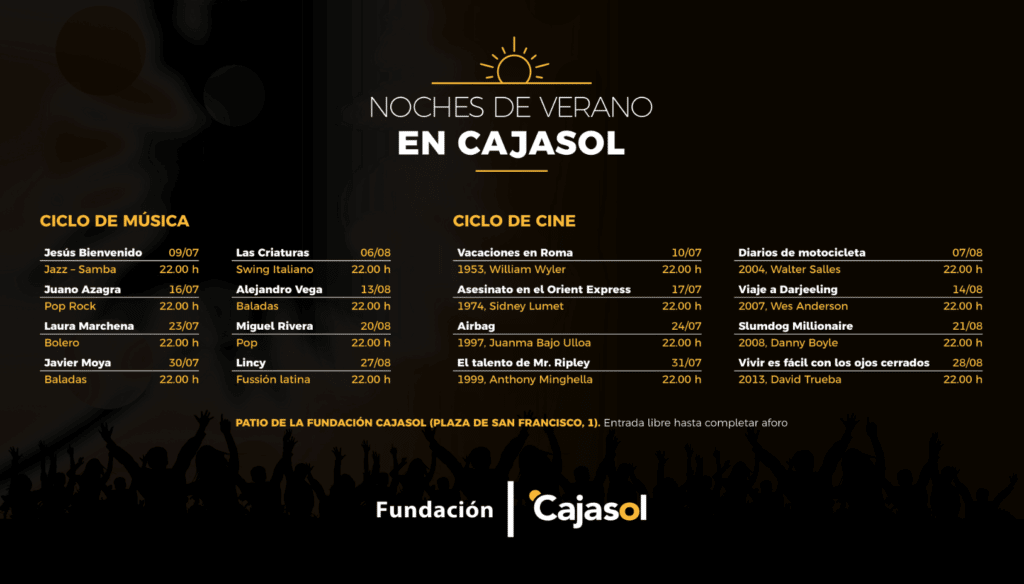 Programación del ciclo 'Noches de Verano' de la Fundación Cajasol en Sevilla