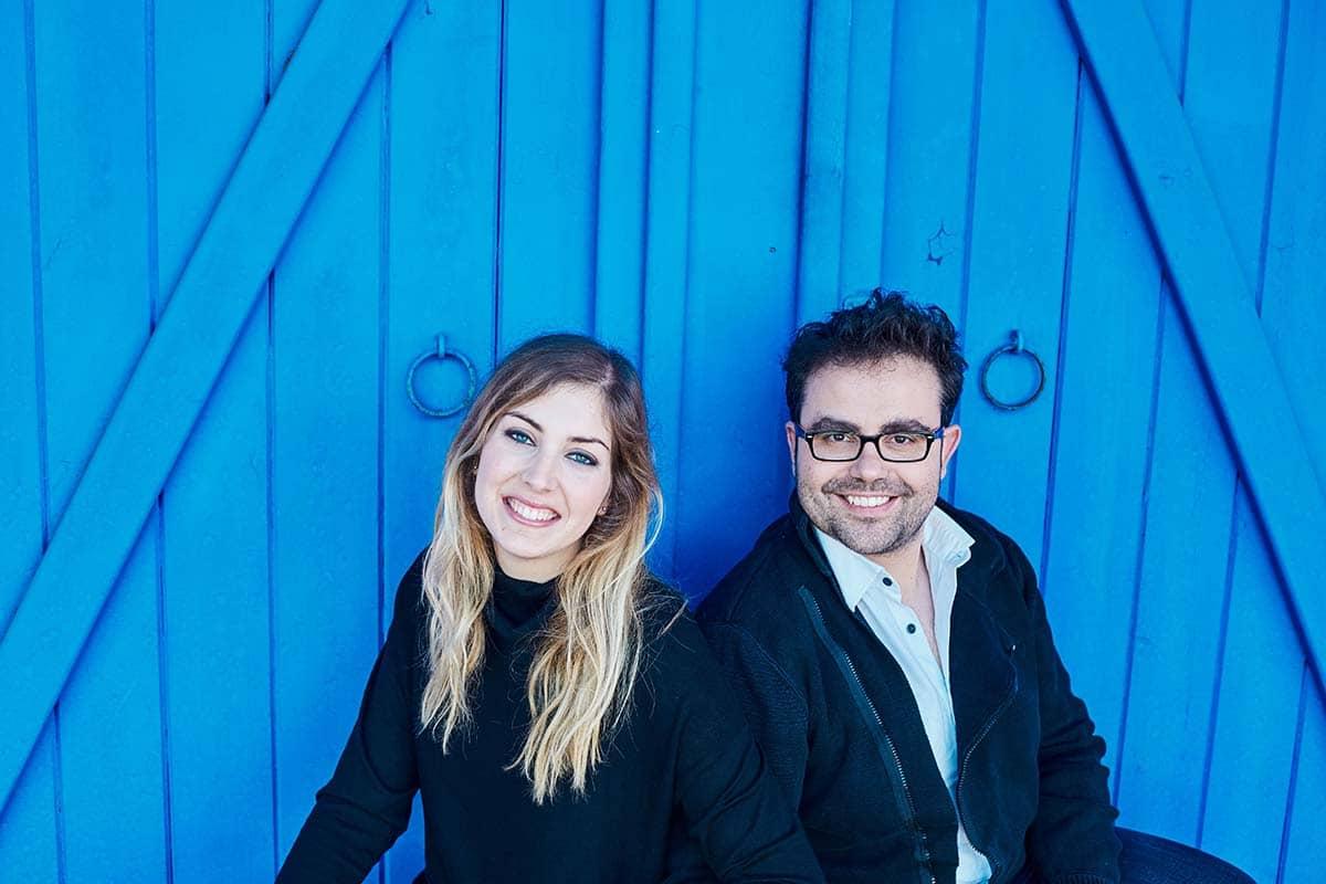 Los integrantes de Iberian & Klavier Piano Dúo