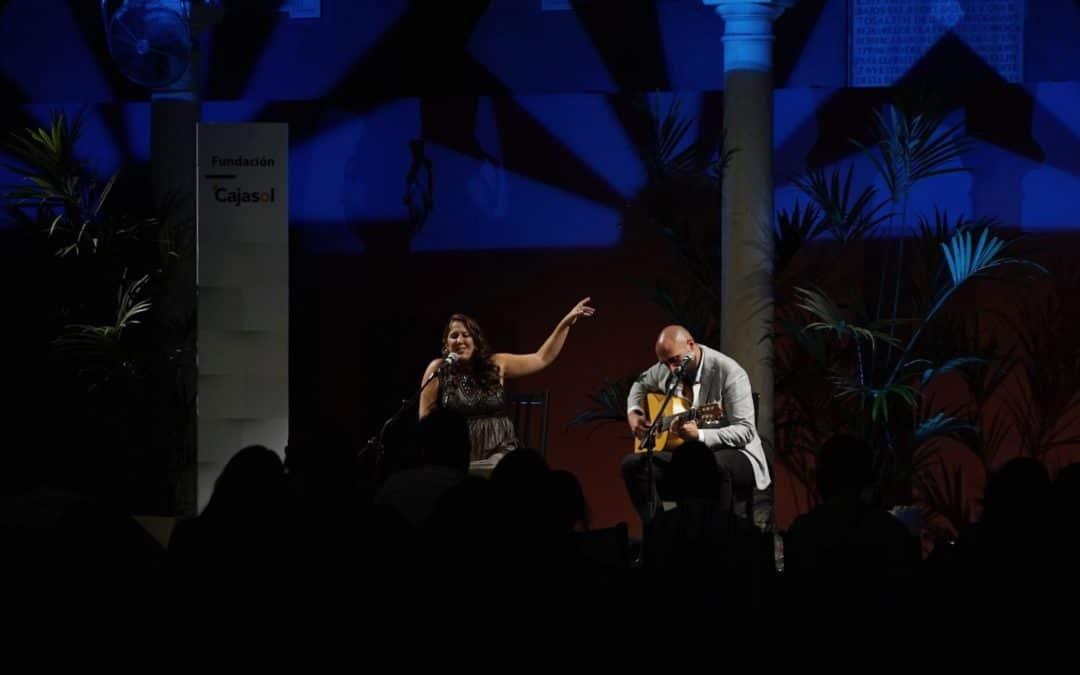 Cristina Tovar y Dani Bonilla en las Noches en la Azotea de la Fundación Cajasol en Sevilla