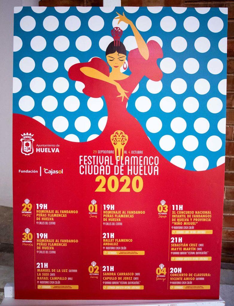 Cartel del V Festival Flamenco 'Ciudad de Huelva'