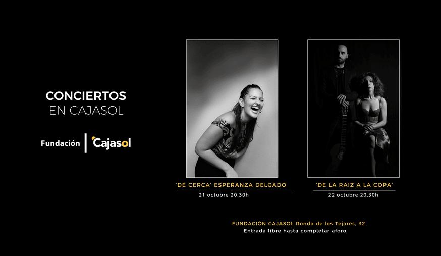 Cartel del ciclo de 'conciertos en Cajasol' Córdoba