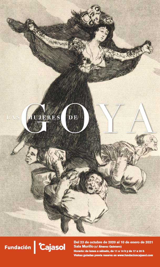 Cartel de la exposición 'Las mujeres de Goya' en la sede de la Fundación Cajasol en Sevilla