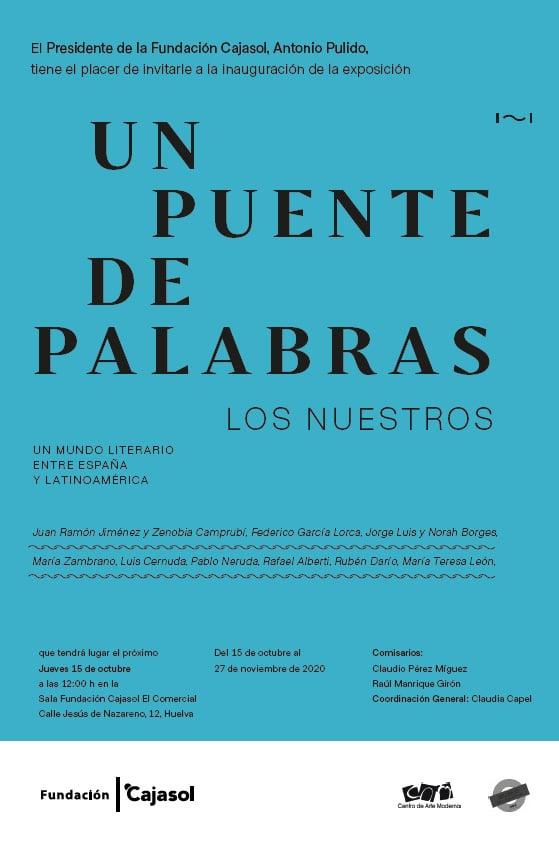 Cartel de la exposición 'Los Nuestros' en Huelva