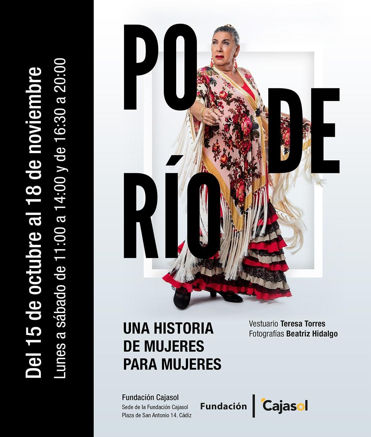 Cartel de la exposición 'Poderío' en la sede de la Fundación Cajasol en Cádiz