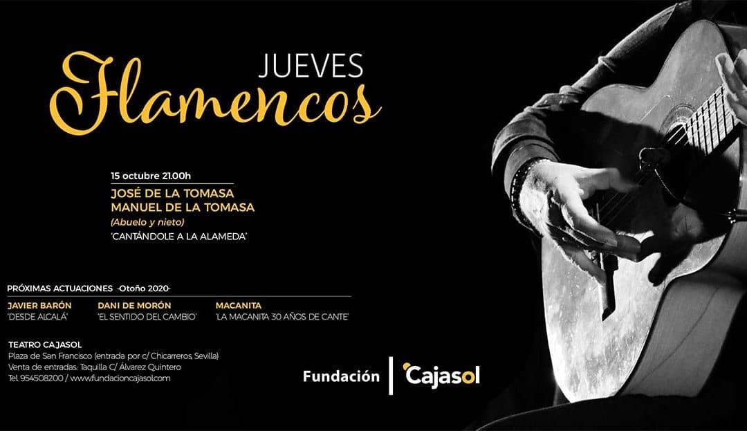 Cartel de la temporada de otoño de los Jueves Flamencos 2020 en la Fundación Cajasol
