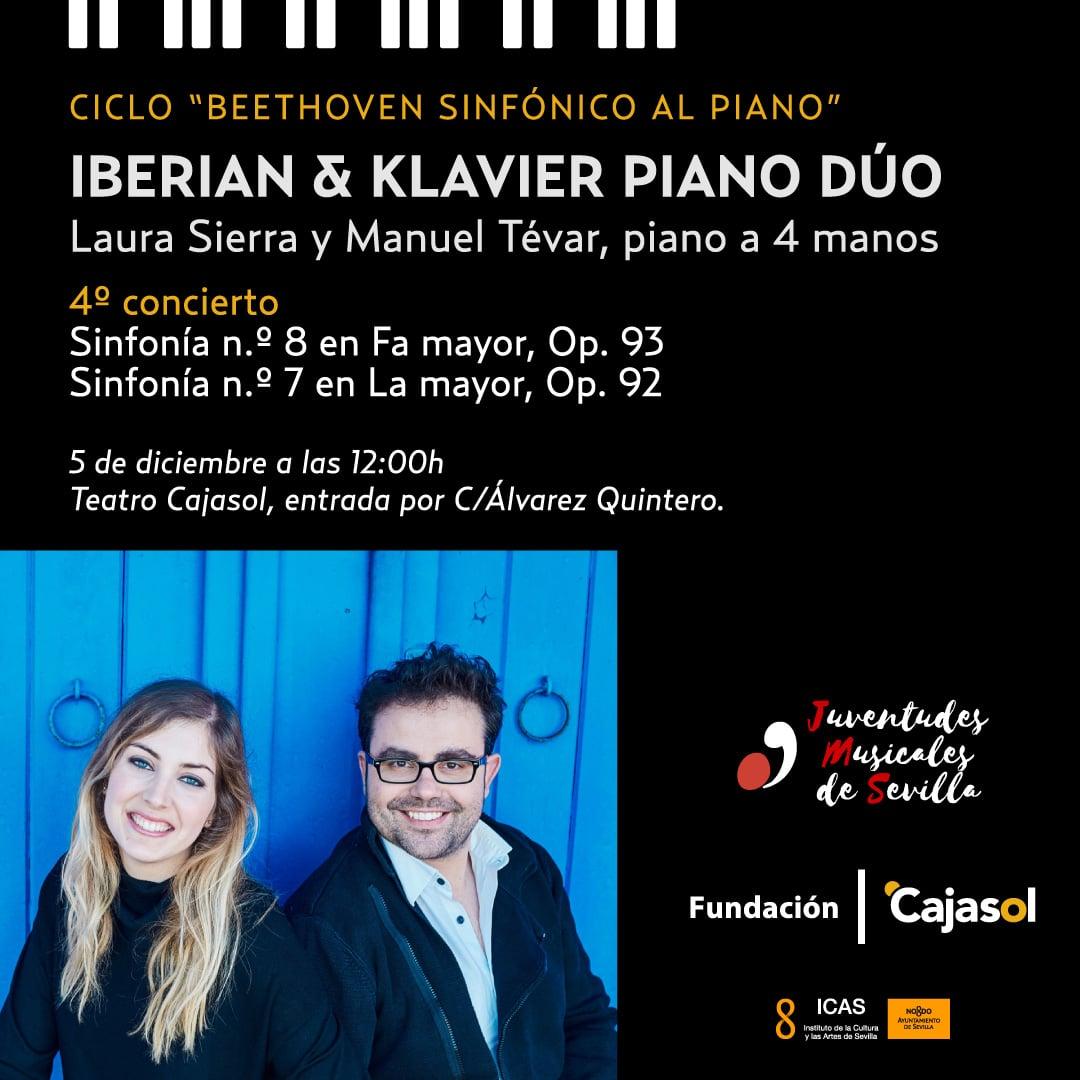 Cartel del cuarto concierto dentro del ciclo de música 'Beethoven Sinfónico' el 5 de diciembre en la Fundación Cajasol