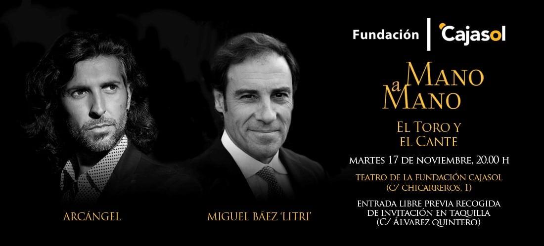 Invitación para el Mano a Mano entre Miguel Báez 'Litri' y Arcángel