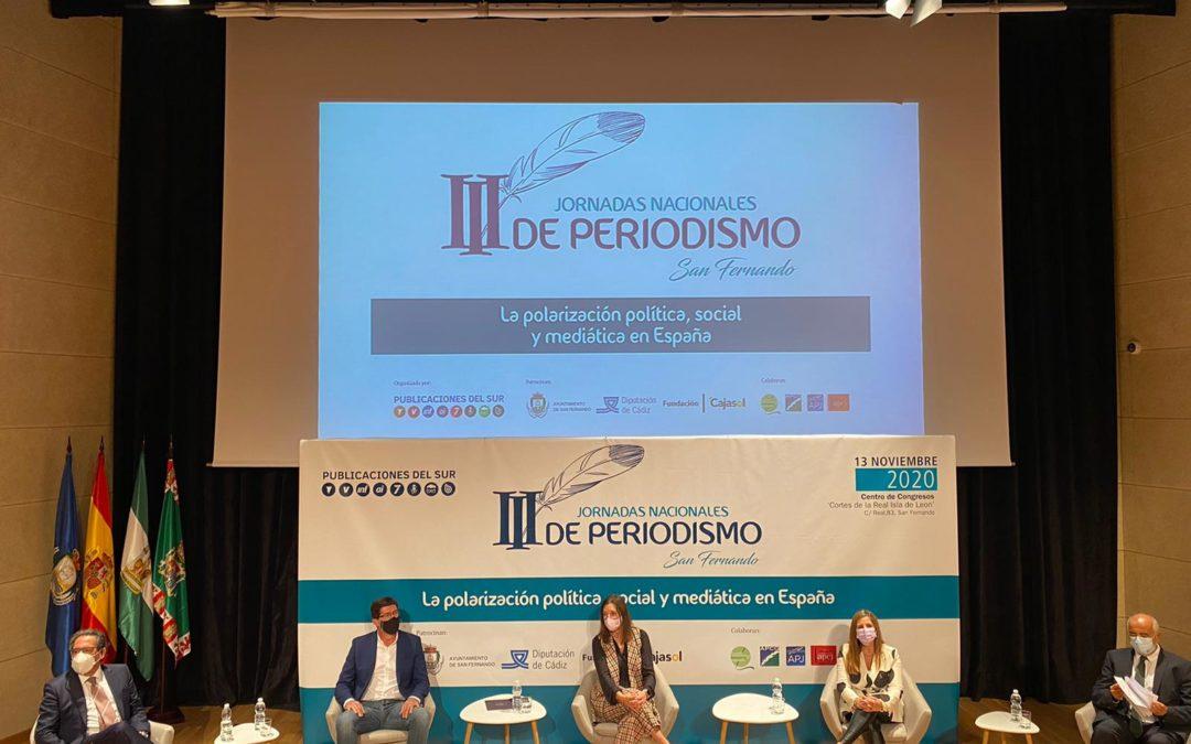Inauguración de las III Jornadas sobre Periodismo Nacional en San Fernando