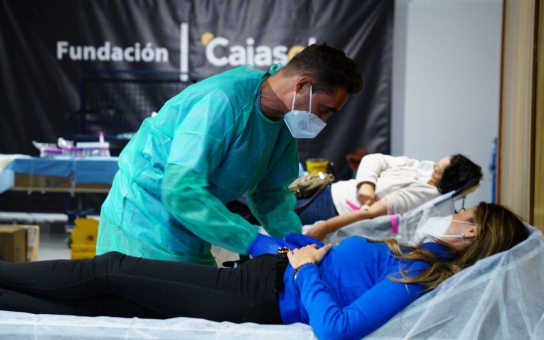 Los cordobeses muestran su lado más solidario en la campaña de donación de sangre de la Fundación Cajasol